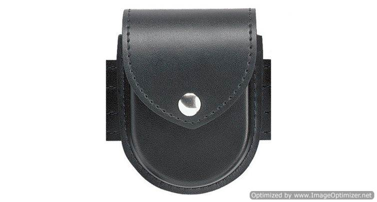 Safariland Double Cuff Case for oversize Hinged Cuffs, Nylon Look, Black Snap