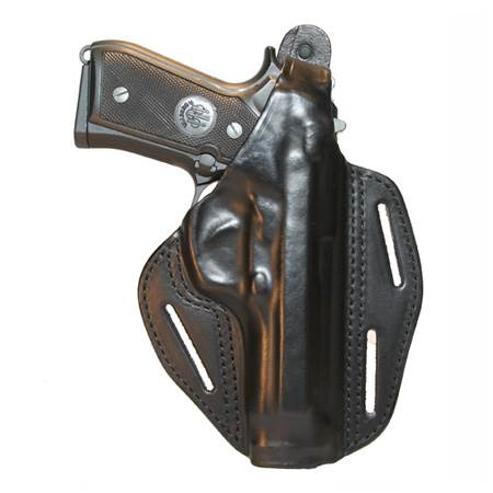 BlackHawk 3-slot Pancake Leather Concealment Holster-Left Hand (BH-420004BN-L)