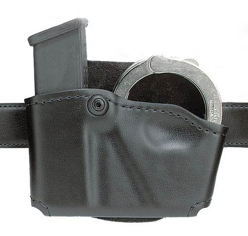 Safariland Concealment Magazine Holder, Paddle, Single Magazine and Cuff Pouch - Basket Weave, Right Hand