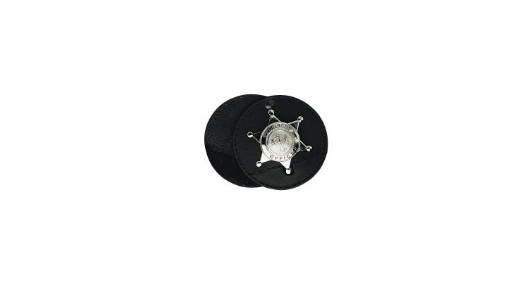 "3 1/2"" ROUND BADGE HOLDER, SWI"