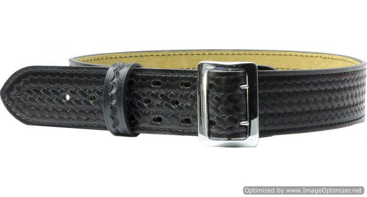 "Safariland Suede Lined Belt w/ Buckle, 2.25"" Size: 52"""