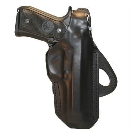 BlackHawk Angle Adjustable Paddle Leather Concealment Holster-Left Hand (CQC-420604BK-L)