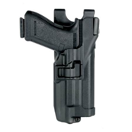 BlackHawk Level 3 Serpa Light Bearing Duty Holster for gun with or w/o rails-Left Hand (BH-44H504BK-L)