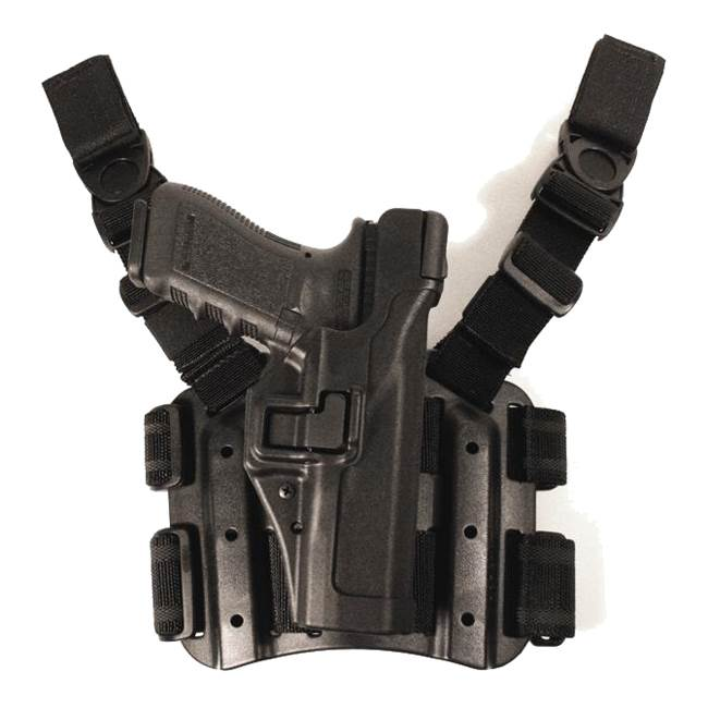 BlackHawk Level 3 Serpa Light Bearing Duty Holster for pictol with or w/o rails-Left Hand (BH-44H504BW-L)
