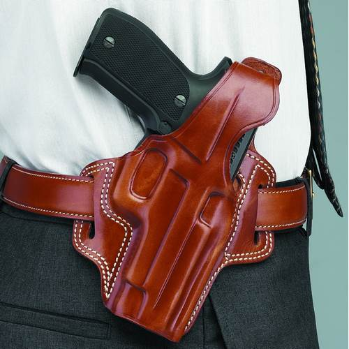Fletch High Ride Left Hand Belt Holster Black