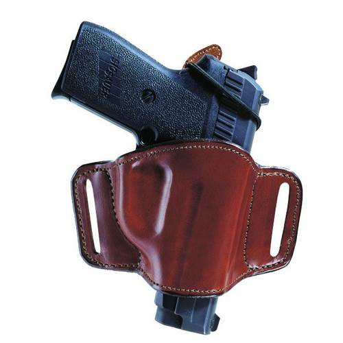 Browning Hi-Power Bianchi Model 105 Minimalist™ Belt Slide Holster With Slots Plain Tan Right Hand