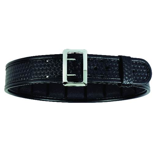"Accumold® Elite™ Sam Browne Belt Plain Black / Chrome 38"" - 40"""